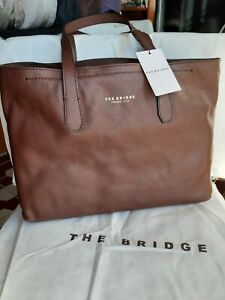 The Bridge  Pelle Martellata marrone Borsa Donna shopper 40 x 29,5 x 11,5 cm