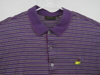 Masters Bobby Jones Mens Polo Shirt Purple Striped Augusta Golf PGA Size XL