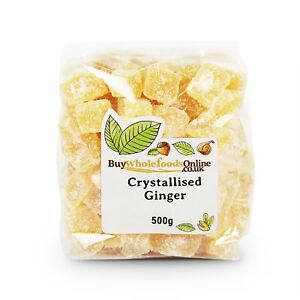 Candied Crystallised Ginger Pieces   500g   Buy Whole Foods Online Free UK P&P
