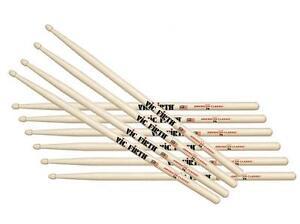 Vic Firth Drum sticks USA Classics 7A Wood Tip - Five Pairs - VF-7A x5