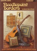 Counted Cross Stitch Patterns Needle Point Borders 5 Projects By Leisure Arts