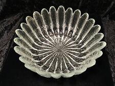 Vintage Large SCANDINAVIAN/SWEDISH Frosted Textured Art-Glass Sunflower Bowl EUC