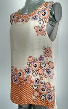 Brand New OASIS floral print silk top blouse size M 100% Silk