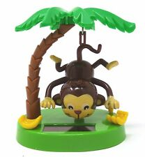 New Solar-Powered Swinging Monkey Hanging By Tail ~ Free Shipping