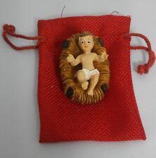 "Baby Jesus crib 2"" Figurine Christmas Holiday gift Jesus nativity set bethlehem"