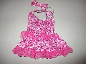 XS female Dog dress [rose] cotton handmade