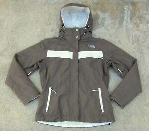 The North Face HyVent fleece lined Ski Snow Jacket women's Sz M espresso brown