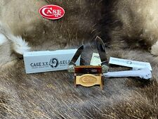 1997 Case Mint Set Canoe Knife Brown Bone Scrolled Bolsters Mint - SN#176 - 23C