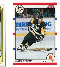 LOT OF 2 1990-91 SCORE + CANADIAN #186 MARK RECCHI ROOKIE CARD HOCKEY RC NR/MT