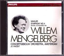 Willem MENGELBERG: MAHLER Symphony No.4 Jo VINCENT Live CD Made in Japan PHILIPS