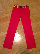 Nwt Gymboree Sunflower Smiles Pink Belted Skinny Pants Stretch 6 Cute!
