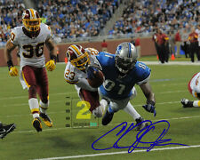 "Calvin Johnson Detroit Lions Signed 10""x 8"" Color PHOTO REPRINT"