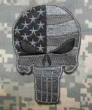 PUNISHER SKULL WAVING FLAG ARMY TACTICAL ACU DARK VELCRO® BRAND FASTENER PATCH