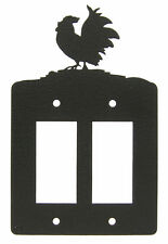 Rooster Chicken Double Rocker Cover Plate