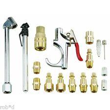 17 Piece Compressed Air Tool Accessory Kit Pneumatic Compressor Hose Couplers