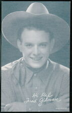 FRED GILMAN Western Cowboy Movie Star Vtg Penny Arcade Exhibit Card Old Vending