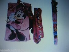 Disney Minnie Mouse Lanyard With Detachable Coin Pouch/Wallet/Purse And Pen-New!