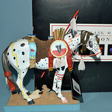 """Trail of the Painted Ponies 8"""" WAR PONY 1452 Westland 2003 horse MINT IN BLK BOX"""