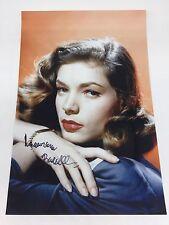 RARE Lauren Bacall Signed Photo + COA AUTOGRAPH BOGART MONROE