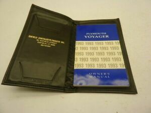 93 VOYAGER OWNERS MANUAL 77246