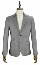 Tweed Collared Hip Length Blazers for Men