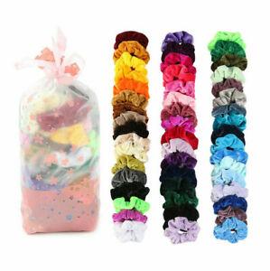 10Pcs Christmas Hair Scrunchies Velvet Scrunchy Bobbles Elastic Hair Holder+Bag
