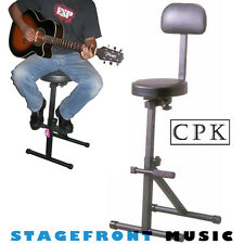 CPK GUITARIST STOOL /CHAIR. HEAVY DUTY  GUITAR STOOL EXTRA HEIGHT, EXTRA COMFORT