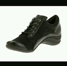 Hush Puppies KENDRA ALTERNATIVE Womens Black Leather/Suede Oxfords HW05226-001