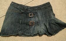000 Arizona Jeans Mini Skirt Buckles Front Size 5