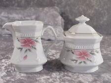 Mitterteich Porzellan 2040 SISSI Milchkännchen + Zuckerdose rosa Blüte