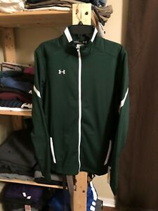 NWT Under Armour All Season Gear Men's Green Zip Up Jacket L/Sleeve Size Large