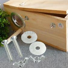 6PC Bird Breeding Nest Box DIY Screw Kit Fitting Nesting Lock Anti-bite Ring SET
