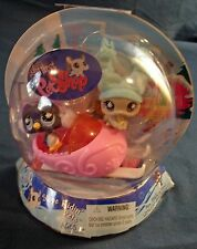Littlest Pet Shop Slope Ridin' Pets Chinchilla and Penguin  with snowmobile