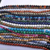 5/10/20/30/40Pcs Natural Gemstone Round Charms Spacer Loose Beads  Jewelry DIY