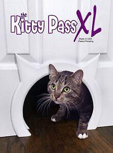 Cat door The Kitty Pass XL Large Cat Door, Hidden Litter box Large Pet Door