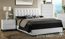 Averi White Modern Bedroom Furniture 3 Piece Queen Size Platform Bed Set