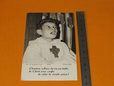 CHROMO 1970-80 CATHOLICISME IMAGES PIEUSES HOLY CARD ENFANT DE COEUR