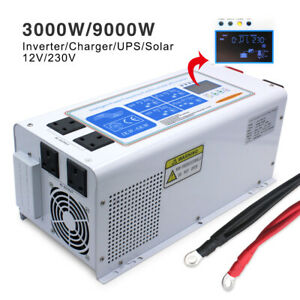 3000W/9000W 12V low frequency pure sine wave power off-grid inverter UPS Charger