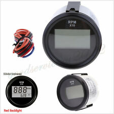 Waterproof Car Truck 52mm 0-9990Rpm LED Digital Tachometer Gauge Hourmeter 9-32V