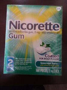 Nicorette  2mg Spearmint burst  Nicotine Gum - 160 Count Exp. 07-20