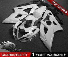 ABS Fairing Kit Bodywork for SUZUKI GSXR1000 2005 2006 White Unpainted Injection