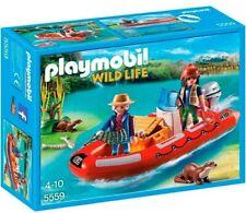Playmobil 5559 Cazadores Furtivos con Lancha. Nuevo en caja.