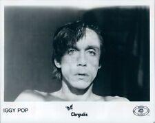 1986 Press Photo Rock Singer Iggy Pop 1980s