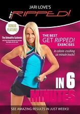 Pump Style Weights EXERCISE DVD - Jari Love Get Ripped in 6 Minutes - 60 minutes