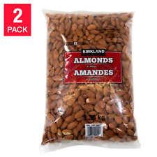 6 LBS - KIRKLAND Whole Almonds, 2 x 3 lbs Bags