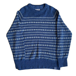 Men's Fat Face Striped winter jumper size M. Navy And Grey