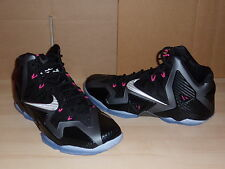 Nike Lebron XI 11 Miami Nights Black Metallic Pink 616175 003 Mens Sneakers 10.5
