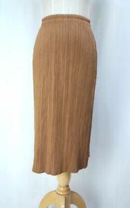 PLEATS PLEASE Brown Skirt ISSEY MIYAKE 282 3125