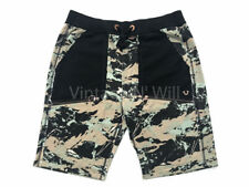 True Religion Jeans Mens Geo Camo/ Black Horseshoe Pocket Blocked Sweat Shorts