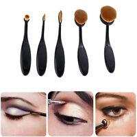 5X Foundation Oval Pinsel Puderpinsel Kosmetik Brush Make Up Zahnbürste w^
